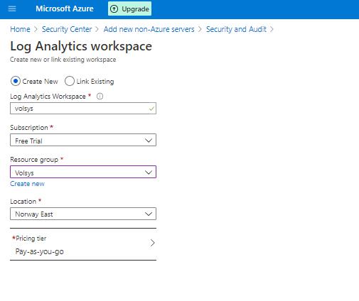 Micmsoft Am m  ACC  Log Analytics workspace